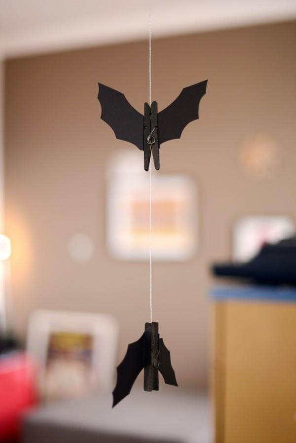 schnelle halloween girlande fledermäuse schwarz