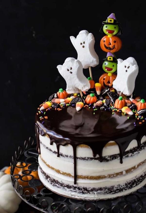 sehr leckere Glasur - Halloween Kuchen