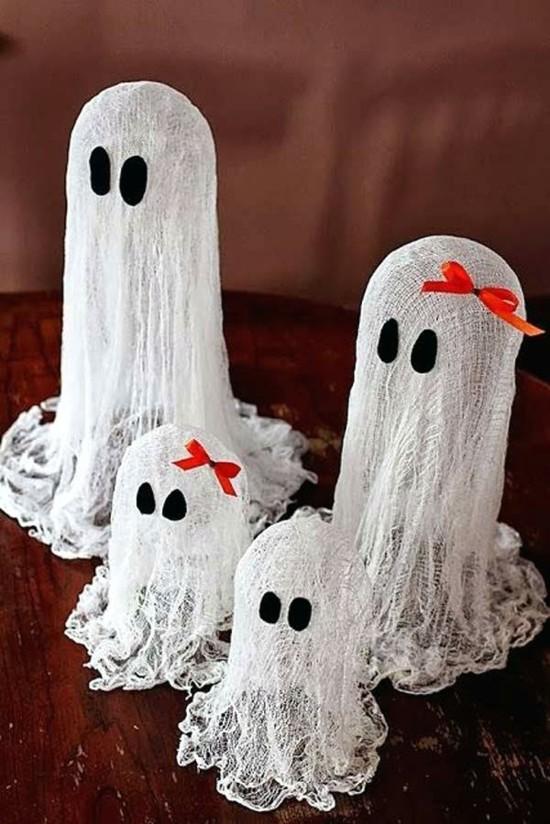 seihtuch gespenster basteln halloween deko ideen