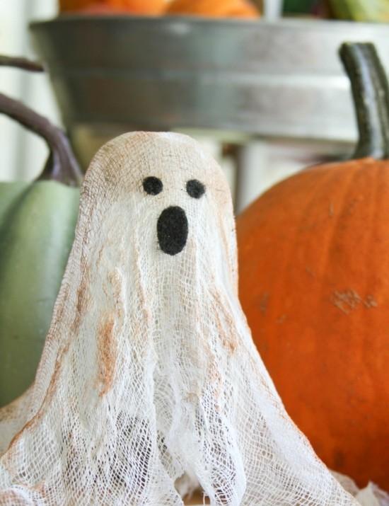 seihtuch halloween gespenster basteln