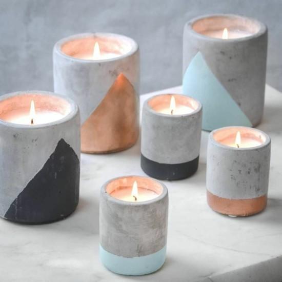 skandinavische windlichter beton deko selber machen