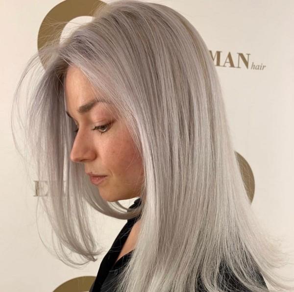 tolle lage Haare Haare grau färben