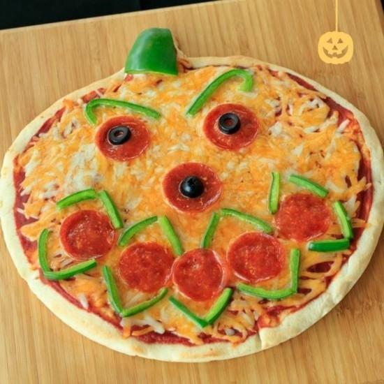 vegetarische pizza belag ideen zu halloween