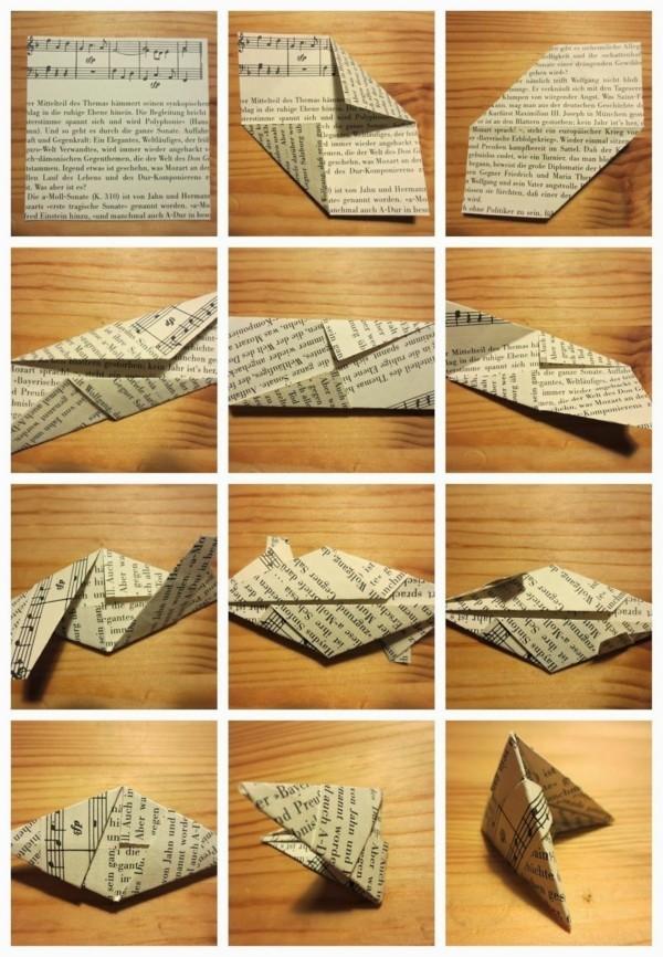 Bascetta Stern Anleitung Weihnachtssterne basteln aus Papier