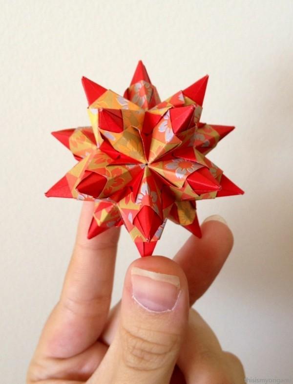 Bascetta Sterne basteln Anleitung Weihnachtssterne basteln aus Papier