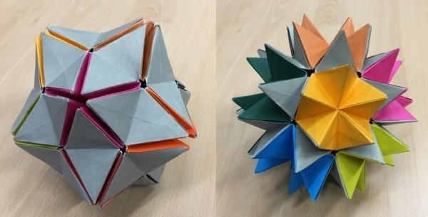 Bascetta Sterne basteln Bascetta Stern Anleitung Papiersterne 3D