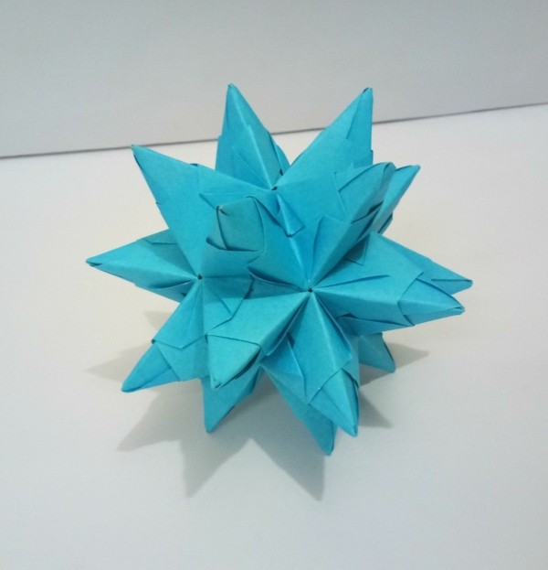 Bascetta Sterne basteln Bascetta Stern Anleitung blau Papier