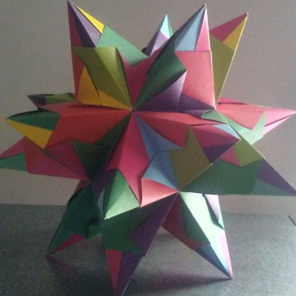 Bascetta Sterne basteln Bascetta Stern Anleitung bunter 3D Stern