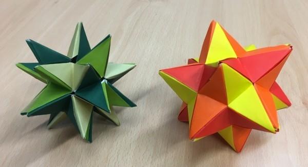 Bascetta Sterne basteln Weihnachtssterne basteln Dekoideen
