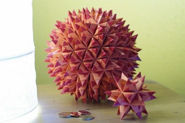 Bascetta Sterne basteln komplizierte 3D Weihnachtssterne basteln