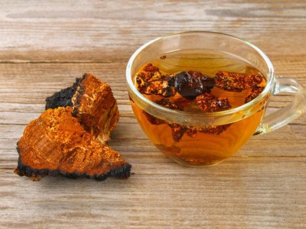 Chaga Tee Superfoods gesunes Leben