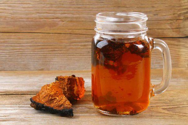Chaga Tee zwei Stückchen für gesundes Leben