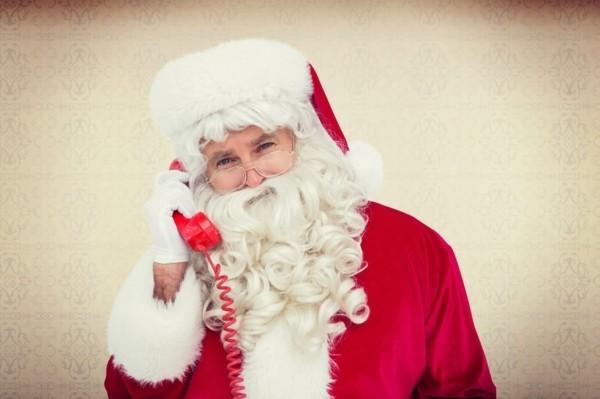 Den Weihnachtsmann anrufen HO HO HO Weihnachtsstimmung