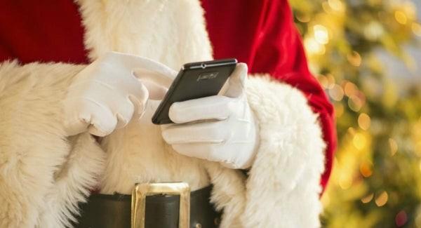 Den Weihnachtsmann anrufen Santa Klaus Handy