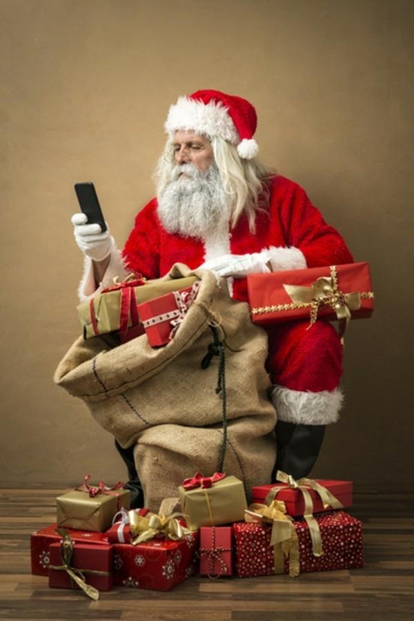 Den Weihnachtsmann anrufen Weihnachtsgeschenke