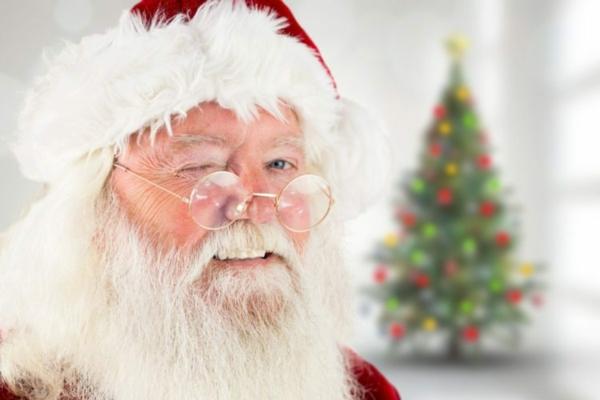 Den Weihnachtsmann anrufen frohe Weihnachten