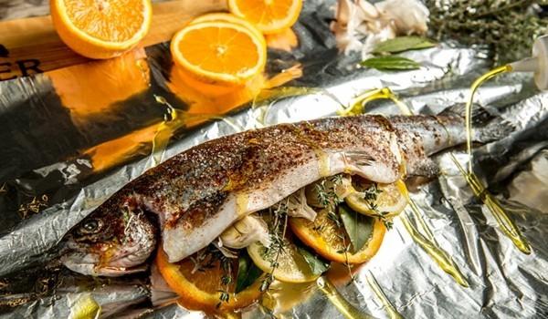 Forelle grillen Rezept Orange gesunde Ernährung Forelle gesunde Vorteile