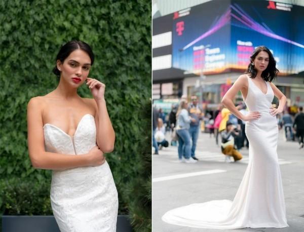 Hochzeitskleider Ideen - schulterfreie Modelle