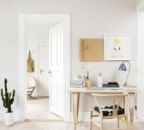 Ein Homeoffice in neutralen Farben wirkt zeitlos und fördert die Kreativität