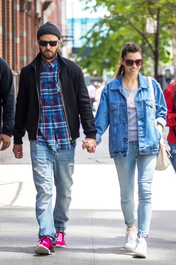 Justin Timberlake und Jessica Biel Fremdgeh-Gerüche anheizen in Gedanken beim Spaziergang