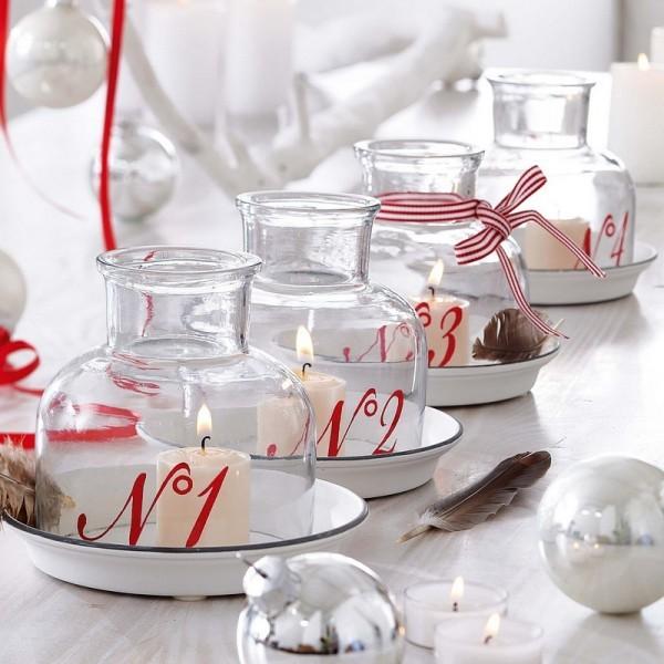 Kerzen dekorieren - Adventskalender - Weihnachtskugeln