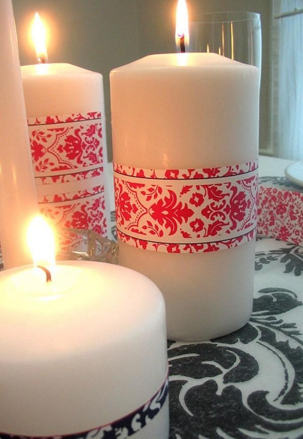 Kerzen dekorieren - Deko mit Tattoos