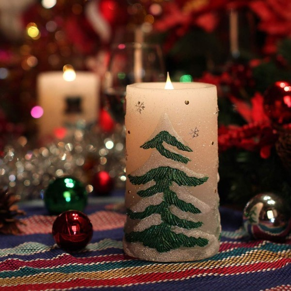 Kerzen dekorieren Dekoideen weihnachten