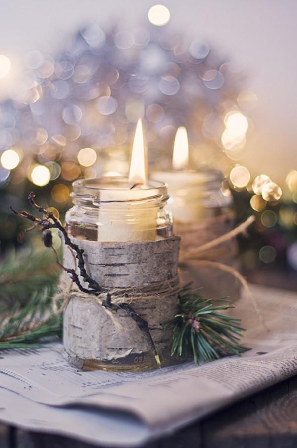Kerzen dekorieren - Kerzendeko mit skandinavischem Flair
