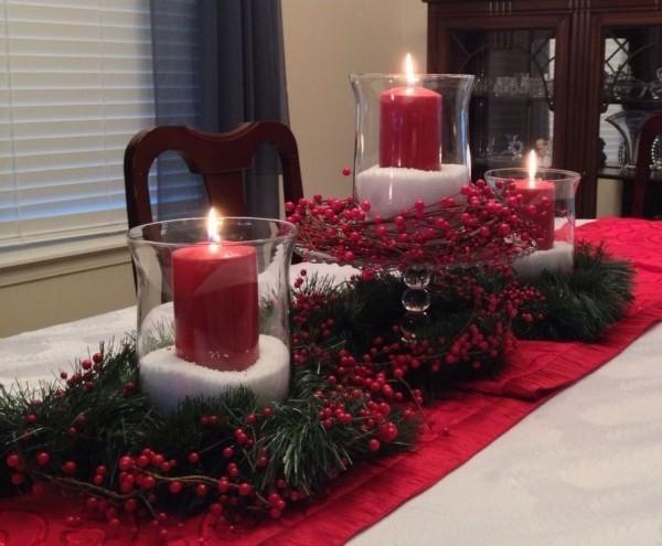 Kerzen dekorieren - Tischdeko Ideen - Weihnachten Insiration