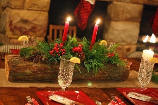 Kerzen dekorieren Tischdeko - Zentralstück