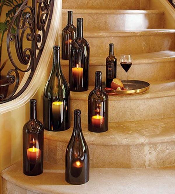 Kerzen dekorieren Treppenhausgestaltung
