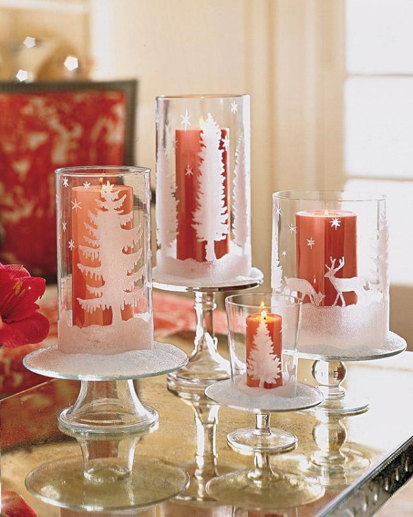 Kerzen dekorieren - rote Kerzen Ideen