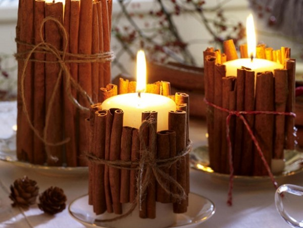 Kerzen dekorieren - tolle Duft - kerzendeko
