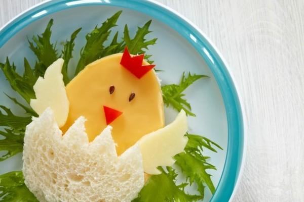 Kindergarten Lunchbox Kinder gesunde Ernährung kreativ gestalten Kücken Sandwich