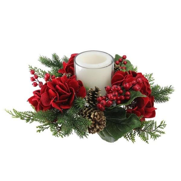 Kranz für weihnachten Weihnachtskerzen Kerzen dekorieren