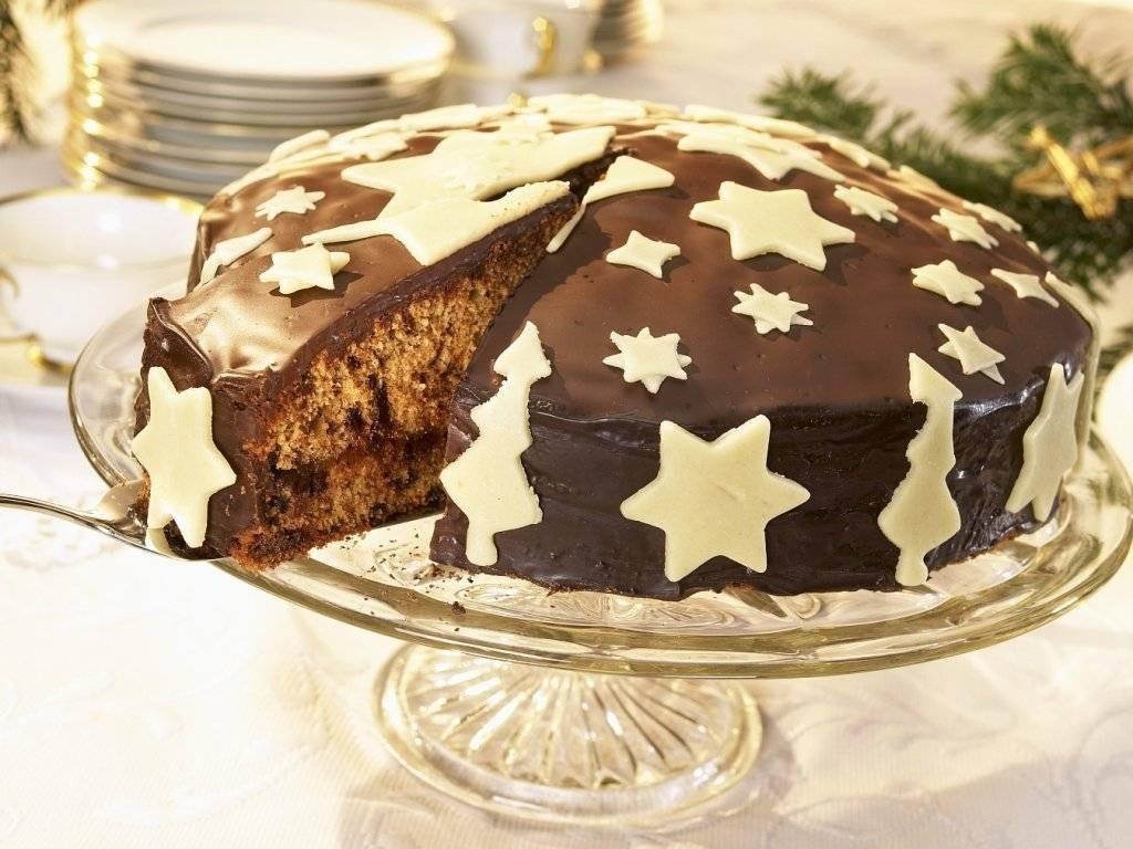 Kuchen aus Schockolade - Kuchendeko