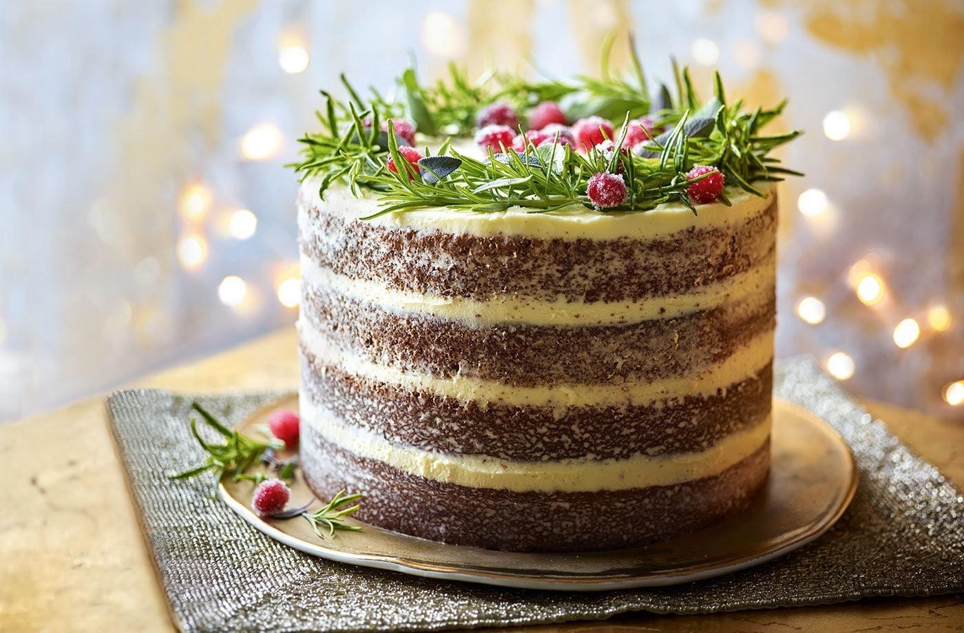Kuchendeko weihnachten gesunee Ideee Tortendeko