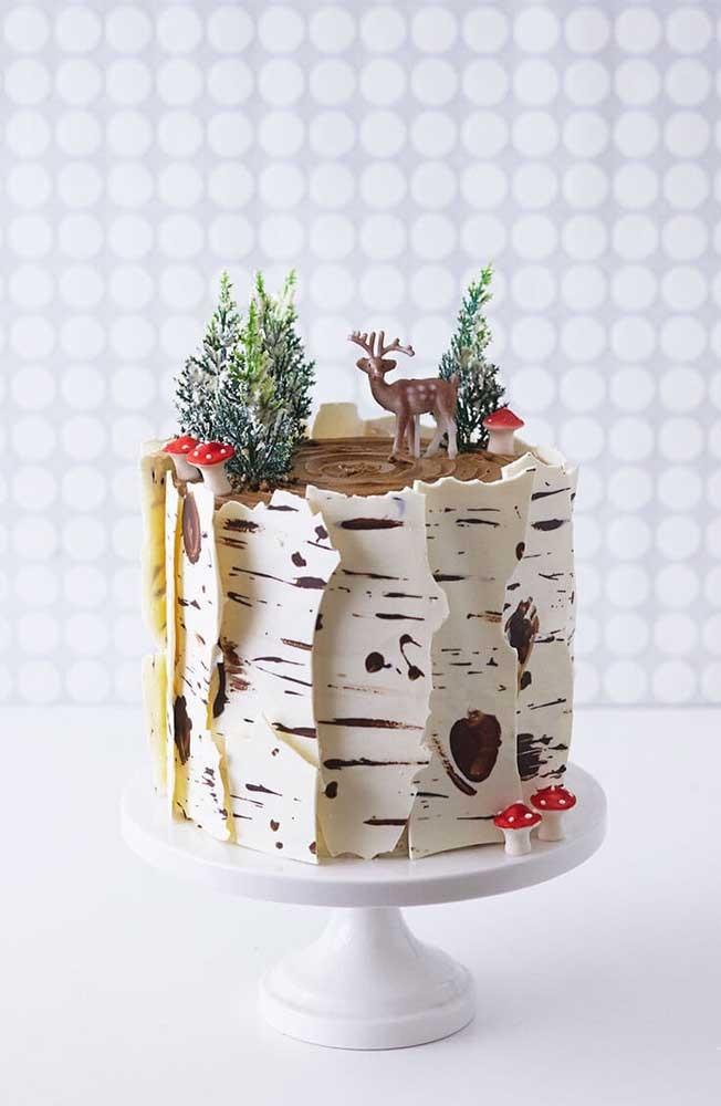 Kuchendeko weihnachten - weiße leckere Torte