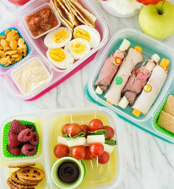 Lunchbox Kinder gesunde Ernährung Fingerfoods Spieße Obst