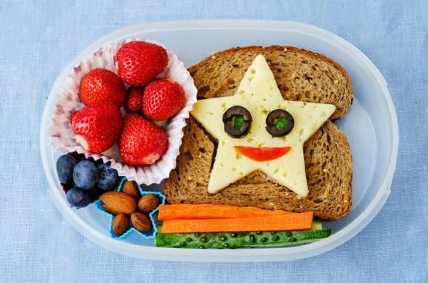 Lunchbox Kinder kreatives Mittagessen Sandwich Stern Käse