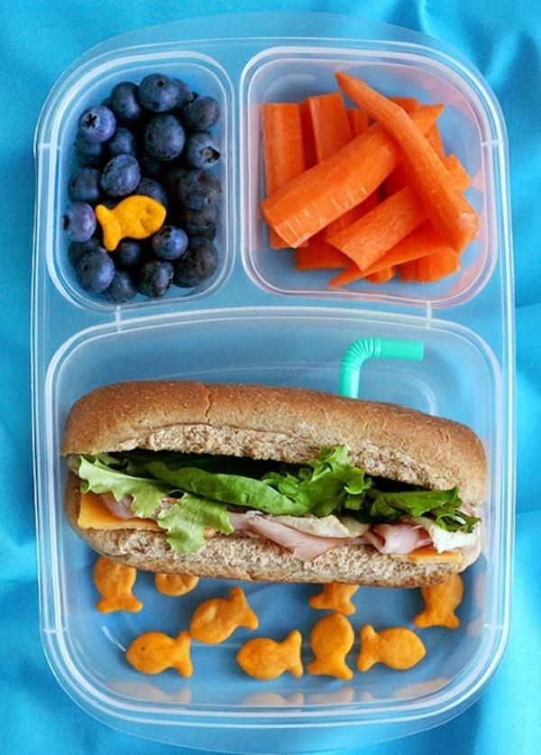 Lunchbox Kinder mit Unterteilung Mittagsbox ausgewogene Ernährung