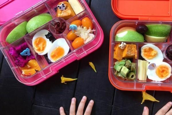 Lunchbox Kinder mit Unterteilung Mittagsbox gekochte Eier