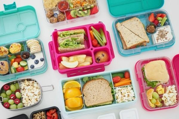 Lunchbox Kinder mit Unterteilung gesunde Ernährung Mittagsbox