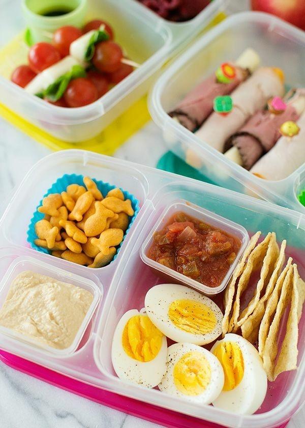 Lunchbox Kinder mit Unterteilung gesunde Mittagsbox ausgewogene Ernährung