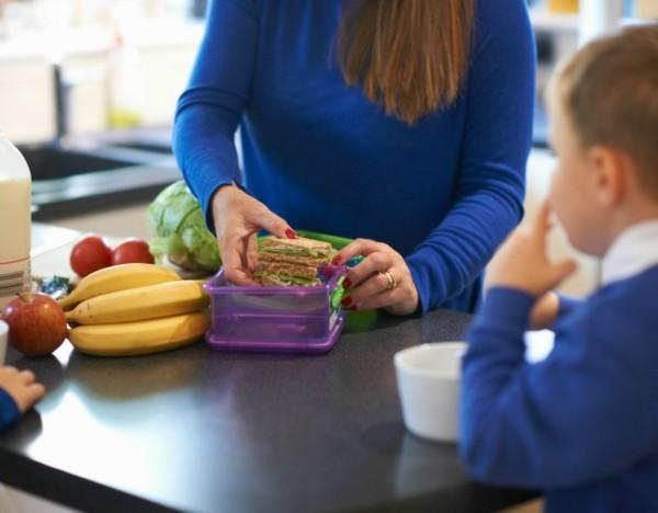 Lunchbox Kinder mit Unterteilung gesunde Mittagsbox vorbereiten