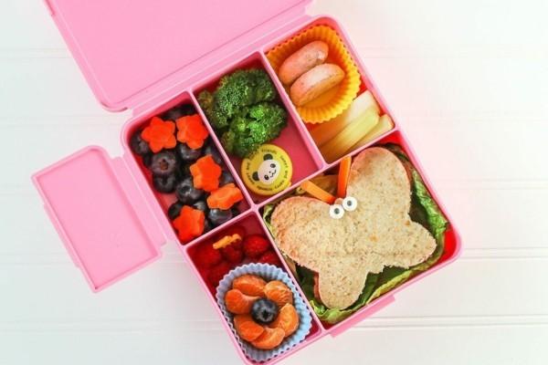 Lunchbox mit Fächern Rezepte Kindergarten Mittagsbox