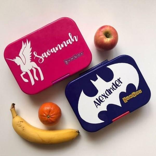 Lunchbox mit Fächern Rezepte Kindergarten Mittagsbox Banane