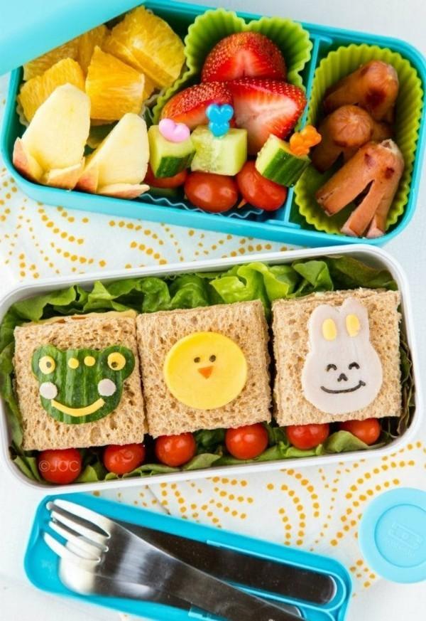 Lunchbox mit Fächern Rezepte Kindergarten Mittagsbox Häppchen