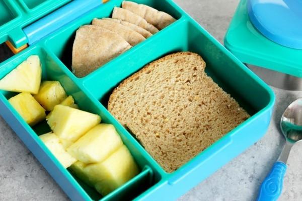 Lunchbox mit Fächern Rezepte Kindergarten Mittagsbox Ideen