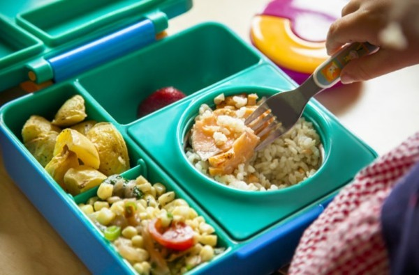 Lunchbox mit Fächern Rezepte Kindergarten Mittagsbox Kinder